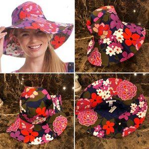 Trina Turk-Gorgeous Floral Shade Hat-NWT